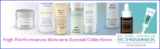 Dr. Schrammek Collection. Under the supervision of trained dermatologist Dr. med. Christine Schrammek-Drusio a compact, professional cosmetics range has been developed with the declared goal of helping skin restore its healthy, beautiful complexion. Starting with the care of normal skin to effective hydration and including solutions for special skin problems, this skincare series offers very efficient cosmetic formulas.